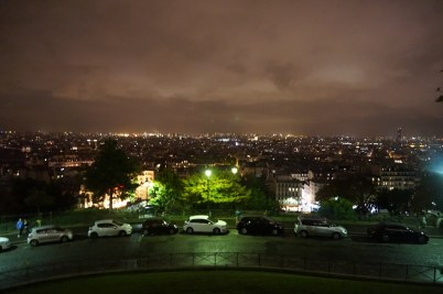 The city at night from Sacre Coeur